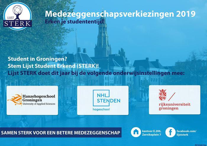Lijst STERK de breedste studentenbelangenvereniging van Groningen!